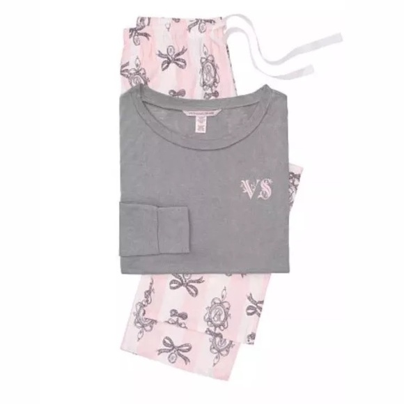 Victoria Secret Lounge PJ Iconic Stripe GreyTop XL b383aa143